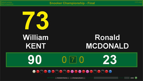 Click to view BallStream Snooker Scoreboard screenshots