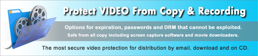 Copy protect video from download and recording