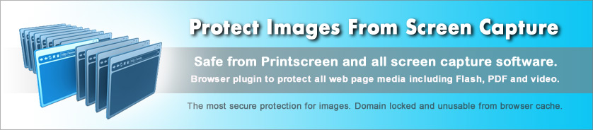 Copy protect images from PrintScreen and capture