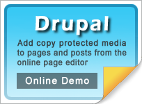 Copy protect Drupal web media
