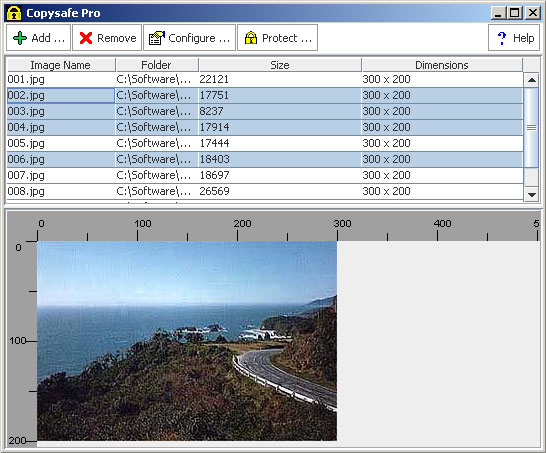 Use the CopySafe Web converter to import images for encryption